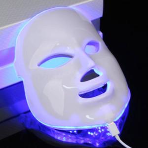 Corea 7 colores LED fotodinámica Máscara facial Cuidado de la piel equipo de belleza anti-acné de la piel Máscaras Rejuvenecimiento LED fotodinámica