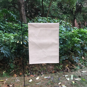 Linho jardim bandeira estampas de sublimação serapilheira de poliéster jardim bandeira decorativa quintal bandeira para o bordado e sublimação 12x16 polegadas