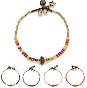AMOURJOUX Handgemachte Tibetischen Runde Charm Bein Fußkettchen Für Frauen Farbe Kleine Perlen Kette Knöchel Armband Fußkettchen Fußschmuck