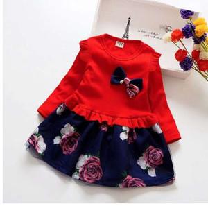 BibiCola bebê primavera Menina Vestido de Festa de Natal Vestidos Crianças Meninas Roupas Florais Crianças Menina Vestido menina
