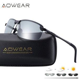 AOWEAR HD Polarize Fotokromik Güneş Gözlüğü Erkekler Sürüş Bukalemun Gözlük Erkek Gündüz Gece Sürücü Gözlük Oculos Lentes Sol Hombre