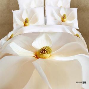 3D bianco fiore floreale biancheria da letto set copripiumino set copriletto biancheria da letto king size queen Copertura del cuscino cavallo leopardo Home Decor