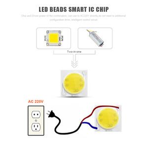 220V LED COB Sorgente luminosa chip 3W 5W 7W 9W LED Lampada lampadina Matrix Module IC Driver Downlight lampada Floodlight Ceramica Raffreddamento