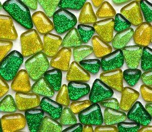 Sanitario 200g Glitter Glass Mosaic Beads Mármoles planos Mosaico de vidrio irregular Azulejos para maceta Florero Linterna Acuario Jardín Decoración