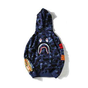 18ss veste de créateur pour homme A HIP HOP Ape Shark Hoodie Camo Full Zip Jackets Vestes coupe-vent taille m-xxl