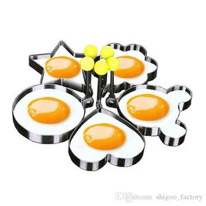 Trasporto veloce Uovo sveglio che frittura muffa uovo fritto Shaper Ring Bambini amore colazione strumenti di cottura Accessori da cucina all'ingrosso