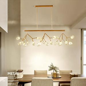Postmodern Schwarz / Gold Eisen Glas Pendelleuchte Mall esszimmer Hotel Pendelleuchte Beleuchtung Rohr Aufgerichtet G4 110-240 V Kostenloser Versand