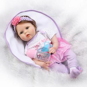 الأكثر شعبية دمية الشحن المجاني 22 بوصة reborn baby doll baby children gifts نابض بالحياة لينة سيليكون الفينيل لمسة لطيفة حقيقية