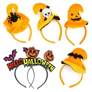 Halloween decreation Witch Pumpkin Headband Kids Hairband Party Hat Party Masquerade Cosplay Props birthday Xmas Thanksgiving Day gift
