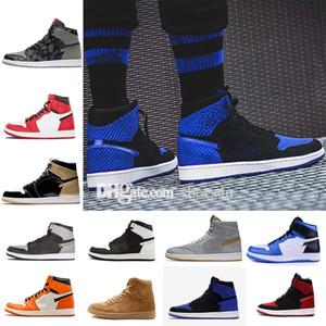 2018 Cheap 1 basketball shoes forbidden Royal broken rebound basketball men's men's luxury running designer brand sports shoes sports shoes