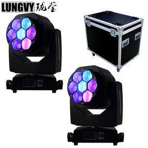 Flightcase Packing 2pcs lot Bee Eye 7*15W RGBW 4IN1 Zoom Led Moving Head Light DMX512 Professional DJ Bar Stage Machine
