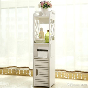 Pratical 스토리지 내각 중공 디자인 화장실 사이드 찬장 파리 에펠 탑 패턴 욕실 가구 핫 판매 41nf ii