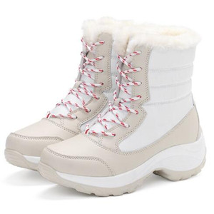 Stivali da donna antiscivolo impermeabile inverno ankle stivali da neve donne piattaforma scarpe invernali con spessa pelliccia botas mujer