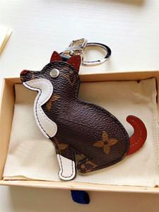 neuer Art und Weiseschlüsselanhänger Tiertierqualitätsleder-Metallfrühlingsschnalle des netten Tierkreises lederne mit vorzüglicher verpackender Geschenkbox
