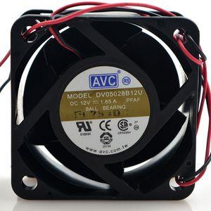 оригинальный AVC DV05028B12U 12V 1.65 A 2 AVC линия 5 см 5028 двойной мяч вентилятор