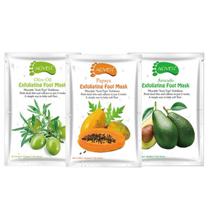 ALIVER Avocado Papaya Olive Oil Exfoliating Foot Mask Remove Dead Skin Smooth For Feet Skin Care