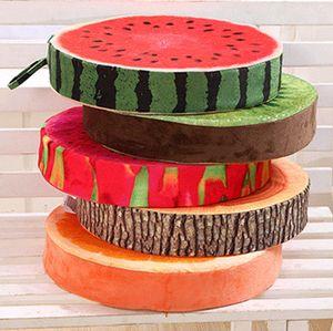 Simulation in Scheiben geschnittene Früchte Kissen Plüsch Spielzeug Sitzbezüge erhoffen mit Schaumschwamm für Stuhlhocker Sitzsofa Dekoratives Kissen Weihnachtsgeschenk
