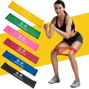 6pcs Resistencia Loop Bandas Mini Band Cross fit Fuerza Fitness GYM Ejercicio Hombres y Mujeres Piernas Brazos Yoga BANDAS DE EJERCICIO