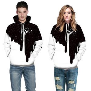 Patrón de la Copa de leche de moda impresión en 3D suéter con capucha Ropa informal de béisbol con capucha pareja
