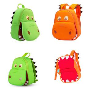 Hippo karikatür öğrenci Okul Çantası Okul sezonu çocuk Sırt Çantaları 28 * 26 * 12 cm Omuzlar çanta C4859