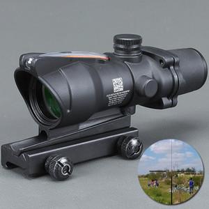 Trijicon Firmasına ACOG 4X32 Fiber Kaynağı Kırmızı Işıklı Kapsam siyah renk Taktik Av Tüfek
