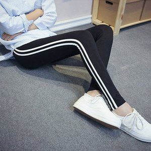 High Waist Athleisure Women Legging Solid Striped Elastic Fitness Leggings Jegging Women Long pants High Elastics for Female Hotsale