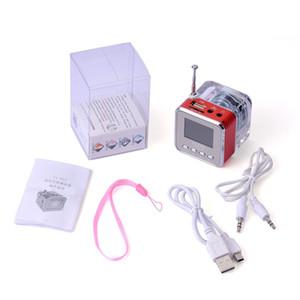 크리스탈 스피커 USB 휴대용 다채로운 LED 스피커 Subwoofer LCD 디스플레이 소형 Nizhi MP3 선수 확성기는 선물로 FM TF 카드를 지원한다