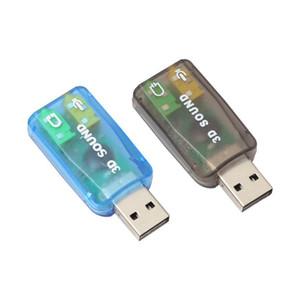 좋은 판매 오디오 어댑터 3D 사운드 카드 5.1 USB 3.5mm 마이크 헤드폰 잭 스테레오 헤드셋 3 월 20 일