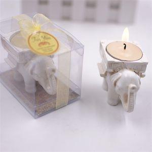 Hochzeit Gefälligkeiten Elefanten Kerzenhalter Europäischen Stil Originalität Persönlichkeit Retro Harz Kerzenhalter Dekoration Party Souvenir 3 5yc UU