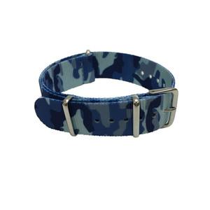 10 unids / lote camuflaje de calidad fina de nylon Nato Band correas de reloj en acero Hardwares Anillos 20mm 22mm DHL libre