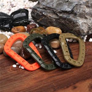 10 pièces Snap Clip plastique EDC grimpant mousqueton en plein air mousquetons en plastique accrochant Buck kit de survie de l'alpinisme sur sac à dos