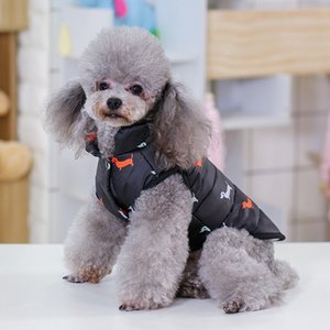 New Dog Hoodies Pet Clothes Cotton Vest Buttons Fleece Winter Warm Dog Apparel Teddy Bulldog Schnauzer Apparel Commercio all'ingrosso