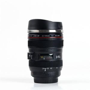 Pratico bicchiere in acciaio inox da viaggio all'aperto tazze da caffè portatile SLR Camera Lens Cup con coperchio squisito piccolo 14fx cc