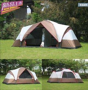 6 -8 persone enorme 2 camere da letto automatico rapido aperto famiglia parco escursioni a prova di acqua escursionismo spiaggia tenda da campeggio all'aperto