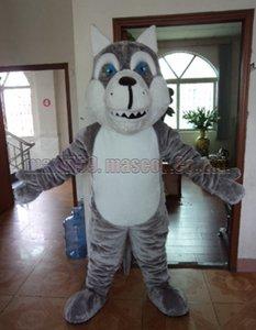 Wolf-Hunde-Maskottchenkostüm Freies Verschiffen-erwachsene Größe, Wolf-Maskottchen-Luxusplüschspielzeug-Karnevalspartei feiert Maskottchenfabrikverkäufe.