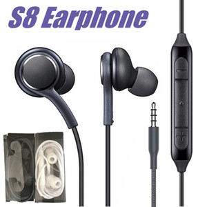 Auricolari S8 Auricolari 3.5mm Jack Cuffie auricolari con microfono Controllo volume per Samsung Galaxy S8 S8 Plus S7 S6 Bordo Nota 8