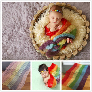 INS Children's Photography Props Newborn Photo Wrapper Full Moon Baby Photographed Mohair Wrap New Baby Wrapped Sleeping Bag 40*80CM