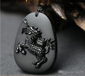 Wholesale - In 2018, it was a cow pendant, Taishi, the mascot, Zodiac, Obsidian, men&039;s and women&039;s necklaces.