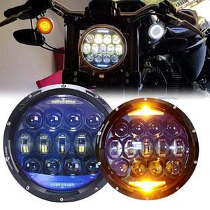 """Универсальная 7 """"светодиодная фара для мотоцикла H4 Phare Farol Moto Фара головного света для BMW Softail Cafe Racer Chopper Honda"""
