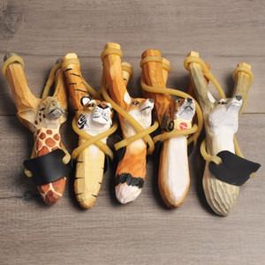 Pour les Enfants Adultes Catapulte Animal En Forme Sculptée En Bois Fronde Portable Drôle Sling Shot Jouets Factory Vente Directe 11 5jj BB