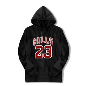 Hommes Hoodies Sweat-shirts Bulls 23 Sweat à capuche imprimé Hommes Femmes Noir Blanc 3D Streetwear Taille Plus Taille extérieure Pull à capuche Hip Hop Haut
