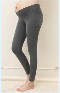 Venda quente Cor Sólida Macia Ajustável Mulheres Leggings Confortável Abdominal Maternidade Magro Calças Calças Leggings Barriga