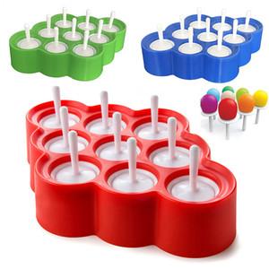 Новые Силиконовые Мини Ice Pops Mold Мороженое Мяч Lolly Maker Фруктовое мороженое С 9 Стикерами Мороженое Инструмент Кухонные Принадлежности WX9-460