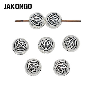 Lotus Flower Spacer  Antique Silver Plated Loose  for Jewelry Making Bracelet Accessories DIY Handmade Craft 25pcs/lot