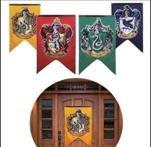 70 * 125 cm Harry Potter bandera Suministros de fiesta Bandera Bandera Pared de Halloween Casa Decoraciones para el hogar Bandera KKA5644