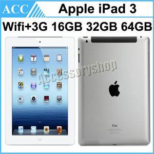 단장 한 원래 애플 iPad 3 WIFI + 3G 셀룰러 16 기가 바이트 32 기가 바이트 64 기가 바이트 9.7 인치 IOS 듀얼 코어 1.0 GHz A5X 칩셋 태블릿 PC DHL 1pcs