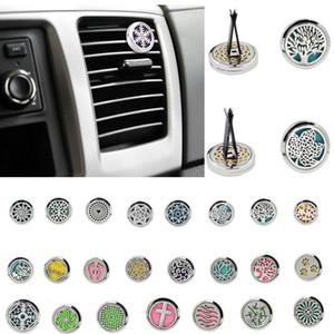 Araba Parfüm Klip Ev Esansiyel Yağı Yayıcı İçin Araç Locket Klip 30mm Paslanmaz Çelik Araba Oda Parfümü Klima Vent Klip 23styles