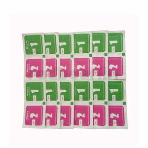 2pcs limpie + Guía etiqueta Pantalla seco-húmedo toallitas para vidrio templado Protectores de pantalla Accesorios Alcohol Pad móvil paño de limpieza