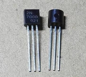 100pcs 2N7000 N-Channel MOSFET TO-92 nuevos productos y ROHS