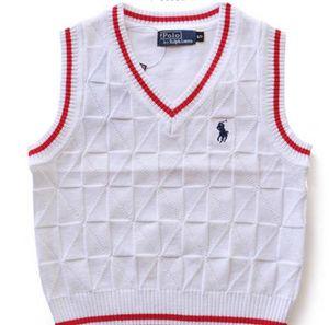 Детский свитер жилет классический новый хлопок теплый детский свитер корейской версии мальчики девочки жилет без рукавов дети свитер